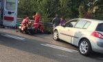 Incidente tra auto e moto, paura sul Sempione FOTO