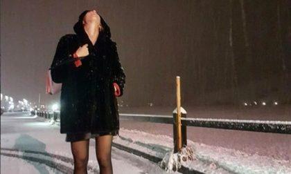 La prima neve a Livigno è social
