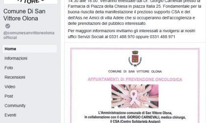 Pagina facebook, San Vittore torna on line
