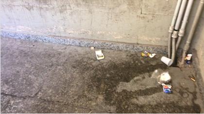 Sporcizia nel parcheggio sotterraneo di via San Giorgio VIDEO