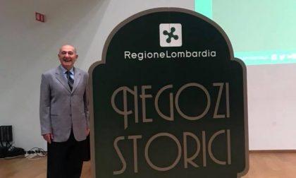 Carlo Ronzio entra nell'albo dei negozi storici regionali