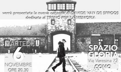 """""""In treno per Auschwitz 2018"""" a Como con Van De Sfroos"""