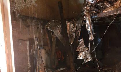 Crolla un porticato a Legnano FOTO