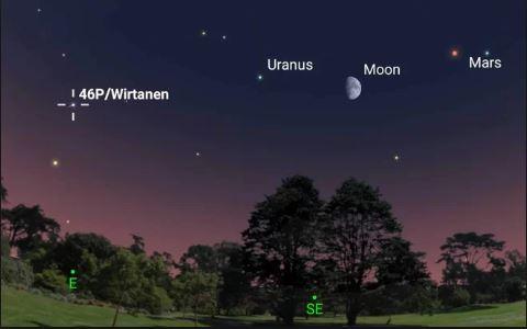 Cometa di Natale (dalla scia verde): arriva 46P/Wirtanen