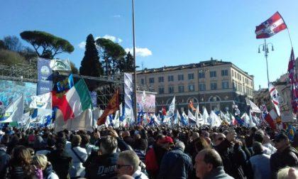 """Manifestazione Lega a Roma Salvini: """"Servono unità e il rispetto dell'Europa"""" FOTO e VIDEO"""