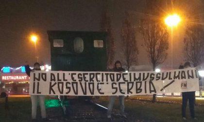 Forza Nuova Provincia di Varese alla locomotiva di Saronno