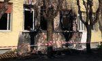 Incendio alla scuola elementare di Dairago FOTO