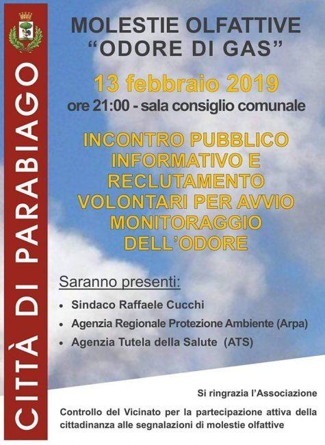 Cattivi odori a Parabiago, l'incontro pubblico