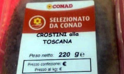 """Plastica nei """"Crostini alla Toscana"""", Conad ritira intero lotto"""