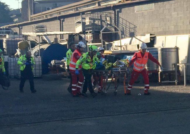 Incidente sul lavoro alla Piuma d'oro di Treviglio