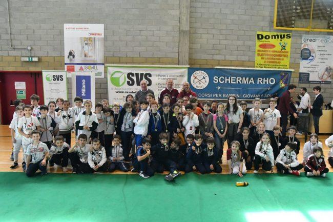 Scherma a Sedriano: una festa con 150 bambini tutti sul podio