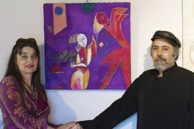 Castano ,In mostra Ahmed Ben Dhiab e La Curatrice Francesca Limoli