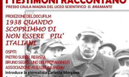 Il film sulla Shoah debutta al liceo Bramante