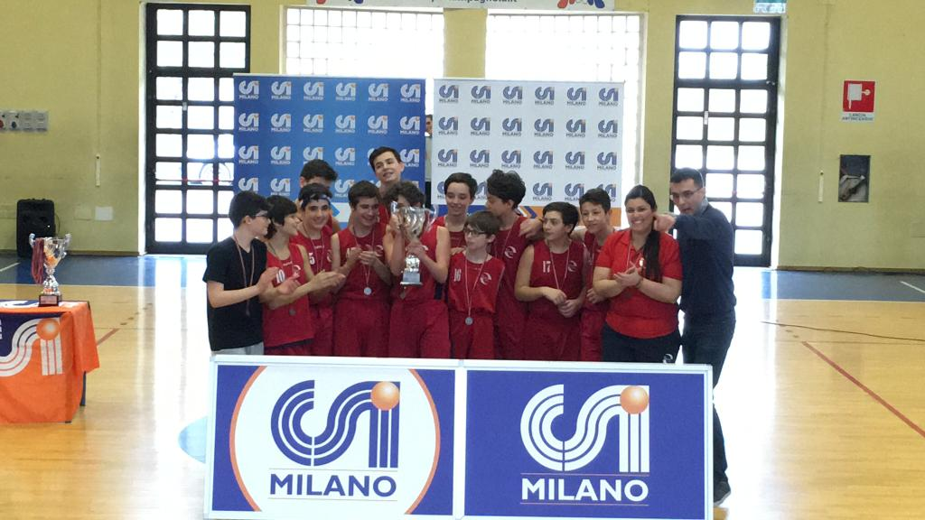 Giosport Under 14 seconda nella coppa di basket Csi