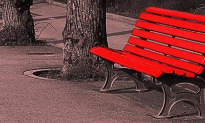 Panchina rossa a Cogliate per la festa della donna
