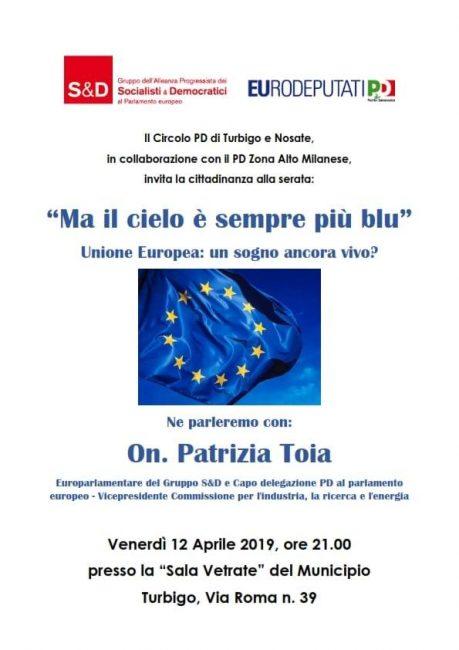 Turbigo, il Pd parla di Europa con PatriziaToia