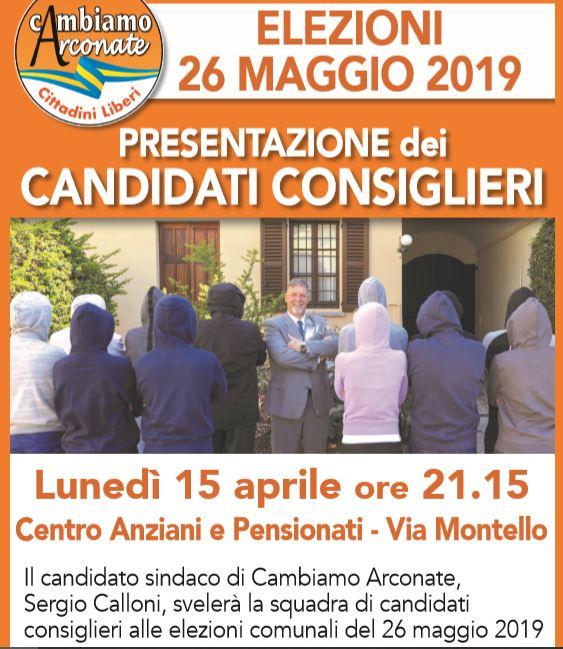 Arconate, presentazione candidati consiglieri Cambiamo Arconate