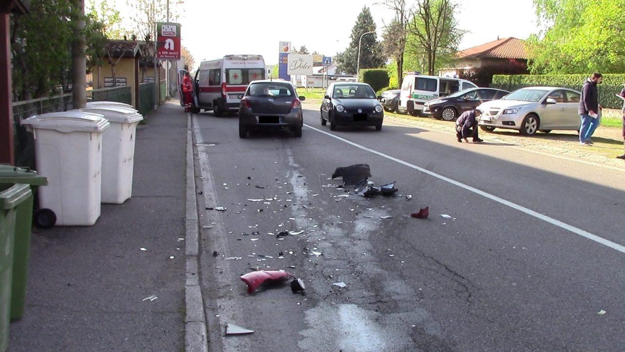 Scontro tra due auto a Legnano