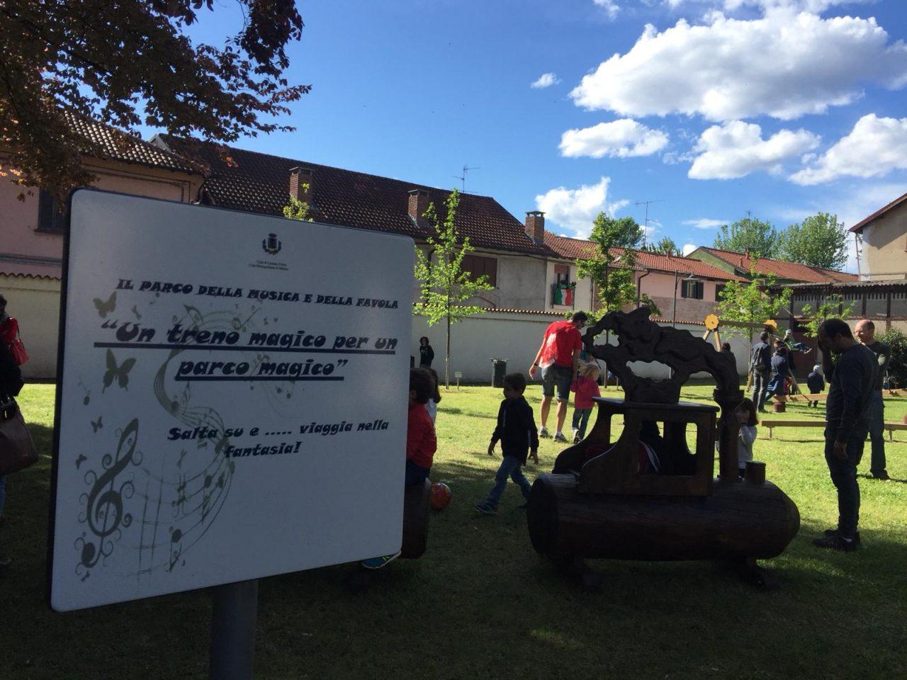 Castano Primo, inaugurazione Parco della Musica e delle Favole