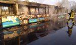 Bus in fiamme, paura a Sedriano