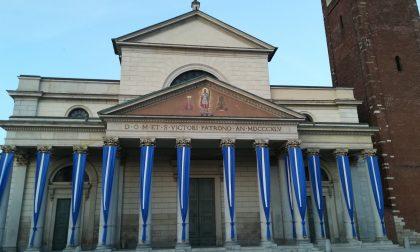 Chiesa di San Vittore parata a festa per la grande processione mariana