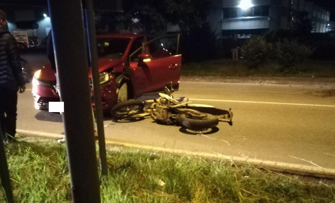 Busto Garolfo, scontro auto moto