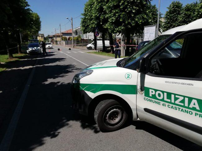 Castano, anziano investito- sul posto la Polizia locale
