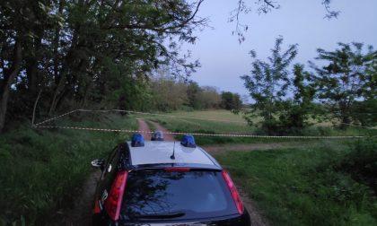 Proiettile di mortaio trovato a Nerviano vicino al Bozzente