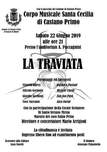 Castano Primo, Corpo Bandistico Santa Cecilia organizza La Traviata