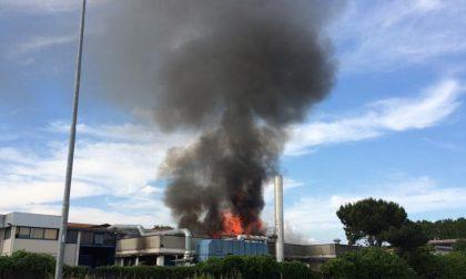 Motta Visconti, incendio in azienda