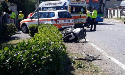 Elisoccorso a Casorezzo per un grave incidente FOTO