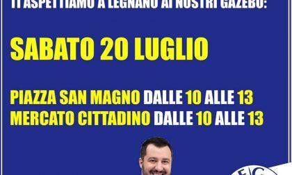Secondo gazebo Lega Nord Legnano per tesseramento 2019