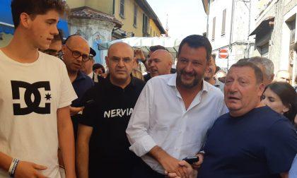 """Salvini in visita alla fiera di San Fermo: Nerviano in Comune """"Non c'è stato confronto"""""""