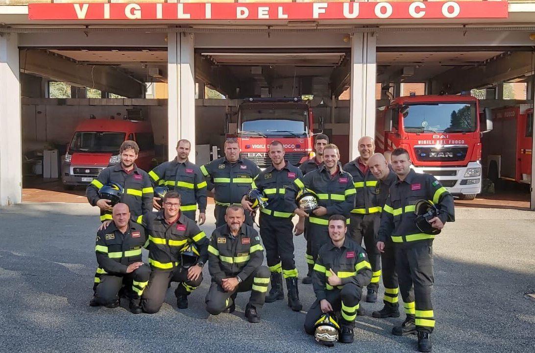 Esame superato per i nuovi volontari dei vigili del fuoco di tradate