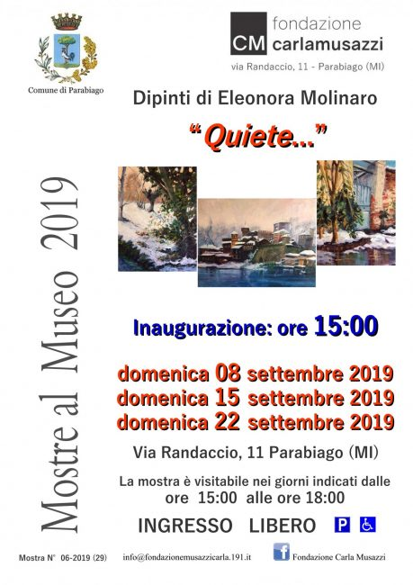 "Museo Musazzi, mostra ""Quiete"""