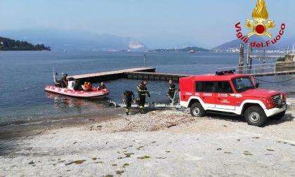 Riprendono le ricerche dell'uomo scomparso nel Lago Maggiore
