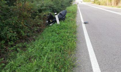 Scontro auto moto: 36enne in ospedale