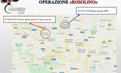 Rapine in banca nel Varesotto, Lodigiano e in Brianza, banda arrestata