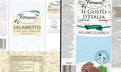 Allergene non dichiarato: Ministero segnala ritiro lotti di salame e salametto Fiorucci