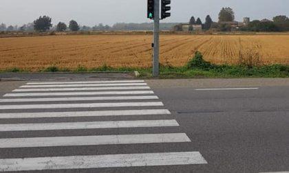 Gudo, ecco il semaforo pedonale sulla Provinciale 30