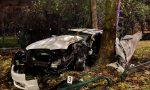Schianto in auto tra due alberi: 34enne muore sul colpo FOTO E VIDEO