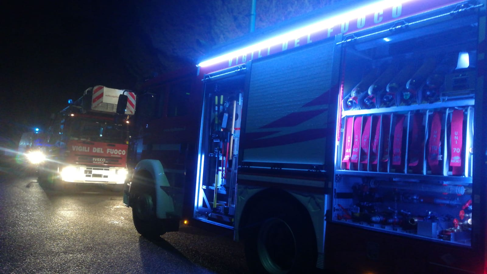 cantina in fiamme a cairate