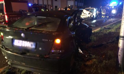 Incidente a catena in via Aldo Moro a Fagnano, auto distrutte FOTO