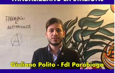 Antifascisti vandalizzano la stazione di Parabiago VIDEO