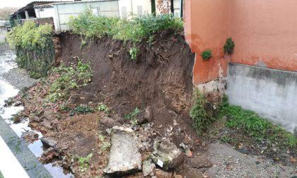 Disagi maltempo: crolla il muro di contenimento del Seveso
