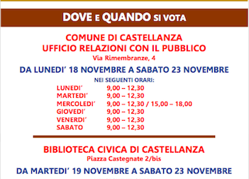 Bilancio partecipato a Castellanza: ora si vota