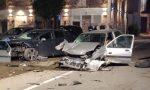 Incidente con quattro auto coinvolte, una persona incastrata FOTO
