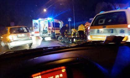 Incidente tra auto e moto a Fagnano, tre feriti
