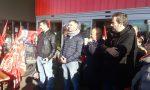 Lavoratori ex Auchan in presidio contro gli esuberi - FOTO