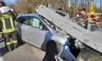 Incidente a Lomazzo all'uscita della A9, schianto contro guardrail – FOTO